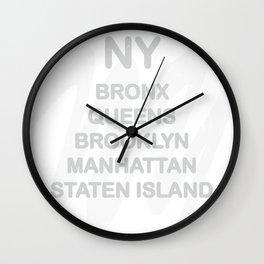 New York District Wall Clock