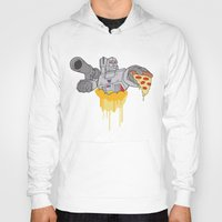 pizza Hoodies featuring Pizza by Jake Beeson