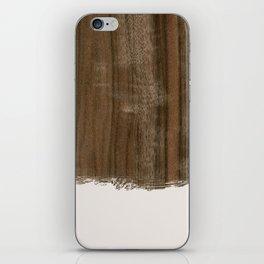 Dipped Wood - Australian Walnut iPhone Skin