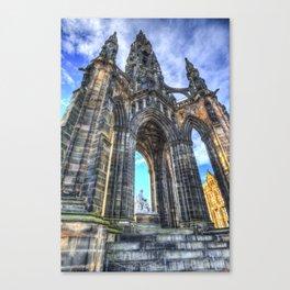 The Scott Memorial Edinburgh Canvas Print