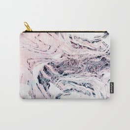 Abstract marbled saturated Carry-All Pouch