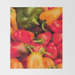 Kitchen Still Life: Hot Peppers Throw Blanket