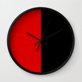 Psychedelic black and red stripes VII. Wall Clock