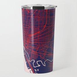 Buffalo, NY, USA, Blue, White, City, Map Travel Mug