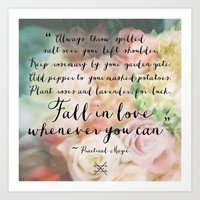 Fall in Love Whenever You Can Art Print