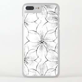 Flower Sketch 8 Clear iPhone Case