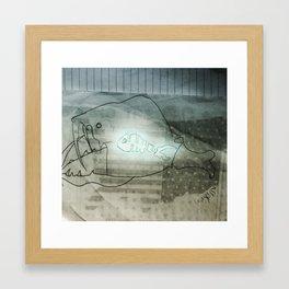 Glo Fish Framed Art Print