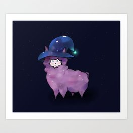 Witch Alpaca Art Print