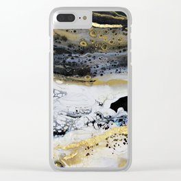 black waters Clear iPhone Case
