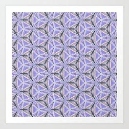 Purple Peacock Pattern Art Print