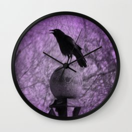 The Surreal Caw Wall Clock