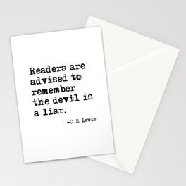 The devil is a liar Stationery Cards