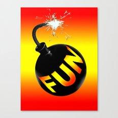 fun bomb Canvas Print