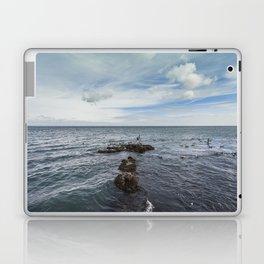 Irish bay and flying seagulls Laptop & iPad Skin