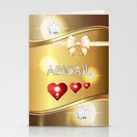 abigail larson Stationery Cards featuring Abigail 01 by Daftblue