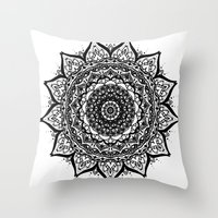 mandela Throw Pillows featuring Mandela by Joelle Poulos