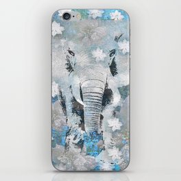 ELEPHANT AND FLOWERS iPhone Skin