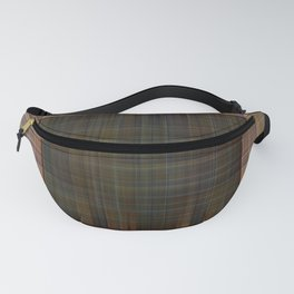 Patched plaid tiles pattern Fanny Pack