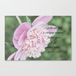 Proverbs 31 Above Rubies Canvas Print