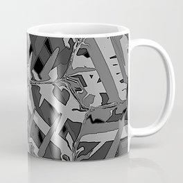 black and white squeezed Coffee Mug