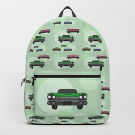 Vintage Route 66 colorful cars Backpack