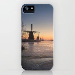 Windmills at Sunrise iPhone Case