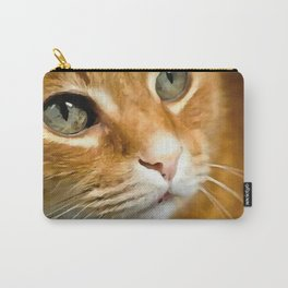 Adorable Ginger Tabby Cat Posing Carry-All Pouch