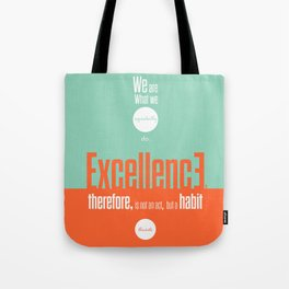 Lab No. 4- Aristotle Quote motivational typography Quote Poster Tote Bag