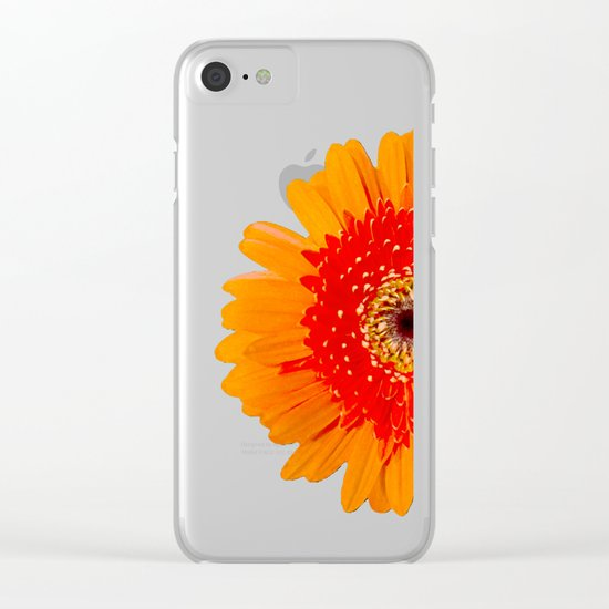 ORANGE GREETING Clear iPhone Case