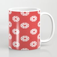 poker Mugs featuring Poker Dots by Leo Canham