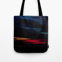 When I Look to The West: A December Sunset #1 (Chicago Sunrise/Sunset Collection) Tote Bag