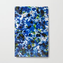 Berlin Stories: Untitled Blue Painting Metal Print
