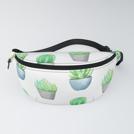 Succulent and Cactus Garden Pots Pattern Fanny Pack