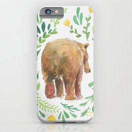 Watercolor Bear iPhone Case