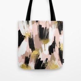 Blush and Gold Abstract Tote Bag
