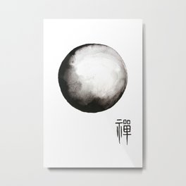"Zen painting and Chinese calligraphy of ""Zen"" Metal Print"