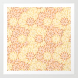 Ruddles Flower Pattern Art Print