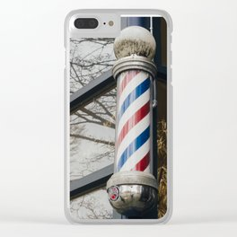 Barber Pole - Olympia, WA Clear iPhone Case