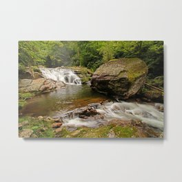 USA Great Smoky Mounains Nature Waterfalls park Stones Parks stone Metal Print
