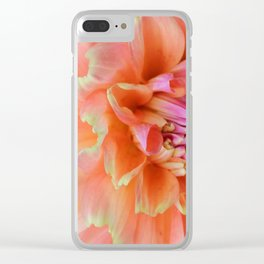 Textura: Dahlia Petals Clear iPhone Case