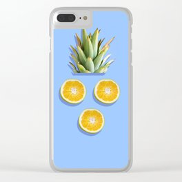Pineapple King surprised Clear iPhone Case