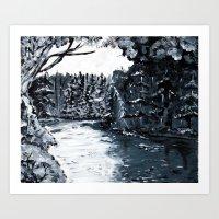 Upstste New York Lake Placid Water Way Art Print