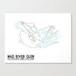 Mad River Glen, VT - Minimalist Trail Art Canvas Print