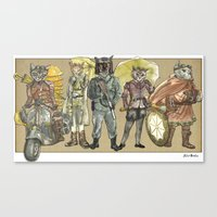 steampunk Canvas Prints featuring Steampunk  by Felis Simha