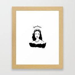 Queen Fawzia Framed Art Print