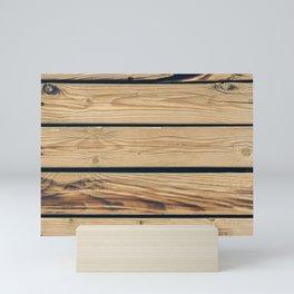Wooden planks Mini Art Print
