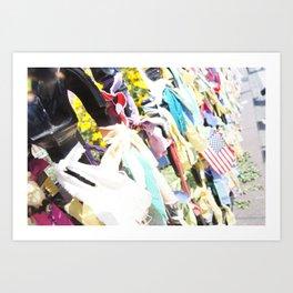 Boston Strong ribbons Art Print