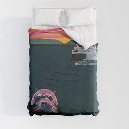 Silent Sailor Duvet Cover