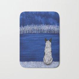 Blue Forest, Starry Sky (Blue Heeler) Bath Mat