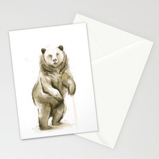 Bear Watercolor Animal Stationery Cards